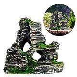 Aquarium Dekoration Baumstamm, Harz Höhle Brücke landschaftlich gestaltet Baumstamm Holz Polyresin...
