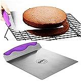 Kuchenheber dünne Edelstahlplatte mit Griffmulde Tortenhebeblech Kuchen Retter für Torten und...