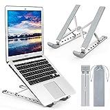Yuede Laptop Ständer, Multi-Winkel Verstellbar, 9 Höhen Einstellbar, Faltbar Aluminium und Silikon...