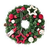 Xinxinchaoshi 40 / 50cm Plüsch-Puppe Weihnachtskranz Tür dekorativen Kranz Kiefer Rattan...