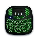 B-black Mini-Tastatur mit Hintergrundbeleuchtung, 2.4Ghz Mini Tastatur ohne Kabel mit Touchpad für...