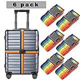 6er Pack koffergurt Gepäckband koffergurt blau kofferband bunt Gepäckgurt Einstellbare Gepäckgurt...