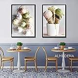 XWArtpic Nordic Delicious Ice Cream Leinwand Malerei Poster Und Drucke Wandbilder Für Küche Backen...
