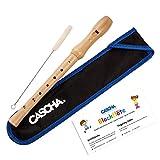 CASCHA Holzblockflöte aus Ahorn, barocke Griffweise, Flöte aus Holz für Kinder und Anfänger ab 6...