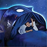 GEATA Kinder Dream Bed Zelt, Mädchen Jungen Deluxe Pop Up Zelte mit Licht, Spielhaus...