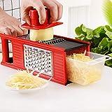 QYWJ Gemüsehobel Multifunktions, Vierkantreibe mit Auffangbehälter für Käse Gurken Kartoffel...