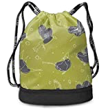 DSGFSQ Sporttaschen Turnbeutel Artistic Single Men & Women Sport Gym Sack Drawstring Backpack Bag...