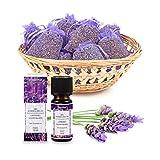 pajoma Lavendelset, 10x Duftsckchen Lavendel plus 1x therisches Duftl Lavendel, 10 ml, 100%...