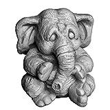 gartendekoparadies.de Massive Steinfigur Lustiger Elefant II aus Steinguss frostfest