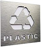 Mülltrennungssystem mülleimer aufkleber - küche mülltrennung pfandflaschen sammelbehälter...