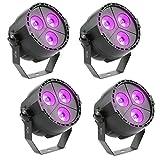 Tomshine 15W 3 LEDs DMX512 Disco Beleuchthung Par Licht mit Fernbedienung,RGBP Mischfarbe,4...