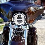 Motorrad-LED-Scheinwerfer 7 Zoll Hoch/Abblendlicht DRL Scheinwerfer Projektor
