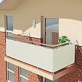 BALCONIO Balkon Sichtschutz wasserabweisend Balkonbespannung Balkonabdeckung für Balkon Terrasse...