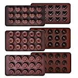 Ecoki Schokoladenform 3er Set aus Silikon, LFGB Zertifiziert BPA-frei Silikon Bonbons,...