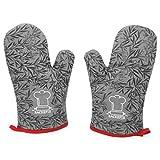 Backefix Ofenhandschuh hitzebeständige Backofenhandschuhe - Topfhandschuhe aus Baumwolle und...