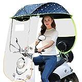 GFYWZZ Motorrad Regenschutz, Universal Motorrad Regenschirm Sonnenschutz Regenschutz Auto Motor...