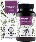 NATURE LOVE Mariendistel - Premium 4-fach Komplex: Mariendistel (80% Silymarin), Artischocke,...