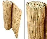 bambus-discount.com Schilfrohrmatten Premium für Balkon, Beach, 90 hoch x 600cm breit, Sichtschutz...