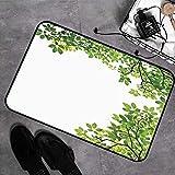 Microfaser Badematte ,antirutschfest Badeteppich,Blätter, breite Blätter Nahaufnahme Hintergrund...