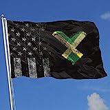 Elaine-Shop Outdoor Flags Abgenutzte USA Flagge Jamaika Flagge Fingerabdruck Herz 4 * 6 Ft Flagge...