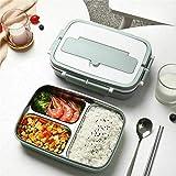 gtianmaoy Langlebiger, Wärmeisolierter Lunchbox-Bento-Lebensmittelbehälter aus Edelstahl für EIN...