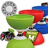 Mister M  Das Ultimative Kugellager Diabolo Set  Kugellager Diabolo Alu Stöcke Online Lern-Video in...