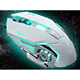 Gaming Mouse, Wired Gaming Mouse, DPI Anpassung Makroprogrammierung 6-Key Customization Vierfarben...