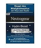 Neutrogena Hydro Boost Sleeping Cream - Nachtcreme mit Hyaluron-Gel-Komplex und selbstglättender...