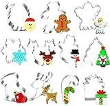 Zomsame Keksausstecher Weihnachten Set, 11 Stück Ausstecher Ausstechformen Weihnachten,...