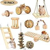Renquen 10 Stück Holz Hamster Übungsroller Wippsäge Zähne Kauspielzeug Hamster Spielzeug für...