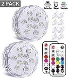 Magnetische unterwasser led Licht, Qoolife RGBW Multi Farbwechsel RF-ferngesteuerte wasserdichte LED...
