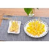 FairOnly Dessertgabeln aus Bambus, waschbar, Dessertgabeln, Party, Dessert, Utensilien, 100 Stück