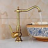 Antike europäische Rotation Antike Luxus Schnitzereien'hoch' Hahn,Wasserfall Wasserhahn Bad,...