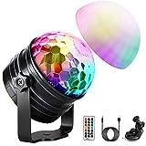 LED Discokugel Kinder OMERIL Discolicht Musikgesteuert Disco Lichteffekte RGB Partylicht,...