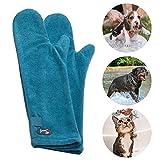 PETTOM Badehandschuh Hund Trockenhandschuhe für Hunde Katzen Badezubehör Hund Pflegehandschuhe...