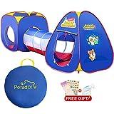 Peradix Spielzelt Kinderzelt Babyzelt mit krabbeltunnel 3-Teiliges Bällebad Spielhaus mit Zelt...