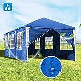 Hengda 3x9m Pavillon UV-Schutz Blau Partyzelt Material PE-Plane Gartenzelt Hochwertiges mit 8...