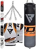 RDX Boxsack Set Gefllt Kickboxen MMA Muay Thai Boxen mit Stahlkette Training Handschuhe Kampfsport...