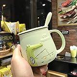 QIJIE Milchkaffee nach Hause Frühstück Tasse Teetasse Keramikbecher Home Office Nachmittagstee...