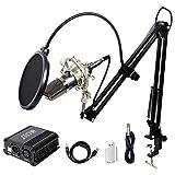 TONOR XLR zu 3.5 mm Kondensator-Mikrofon Kit mit USB Kabel Schall Podcast Studio Rundfunk & Aufnahme...