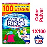 Weier Riese Color Pulver, Waschmittel, 100 Waschladungen, extra stark gegen Flecken