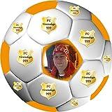 Tortenaufleger Fussball Fußball in 3D-Optik für einen tollen 3D-Effekt mit Foto & Vereinslogo...