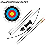 Outdoor-Shooter Recurve Pfeil und Bogen Spiel für Jugendliche, Schießtraining Spielzeug für...