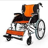 Wheelchair Aluminiumlegierung Rollstuhl, Falten Licht Multifunktions-Old Man Tragbare Behinderten...