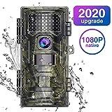 WiMiUS H4 Wildkamera Fotofalle 20MP Native 1080P Full HD mit Bewegungsmelder 20M Nachtsicht...