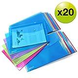 Rapesco 1494 Dokumentenmappe mti Druckknopf A4 (Verschiedene Farben) Dokumententasche 20 Stück
