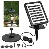 PIKA PIKA QIO 1.5W 7V Sonnenkollektor angetriebene Pumpe Vogelbad Brunnen Wasserpumpe for Garten...