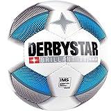 Derbystar Fussball FB-Brillant TT DB Weiss/Silber/blau 5