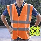 Reflektorweste Warnweste ReflektierendeWarnweste Warnweste Sicherheitskleidung Arbeitskleidung,...