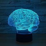 BFMBCHDJ USB Neuheit Licht Gehirn Carebellum 3D Optische Täuschung Lampe 7 Farbwechsel Nachtlicht...